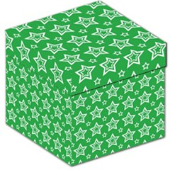 Green White Star Line Space Storage Stool 12   by Alisyart