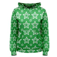 Green White Star Line Space Women s Pullover Hoodie
