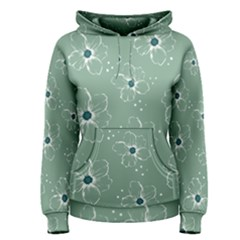Floral Flower Rose Sunflower Grey Women s Pullover Hoodie