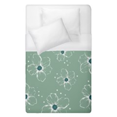 Floral Flower Rose Sunflower Grey Duvet Cover (single Size) by Alisyart