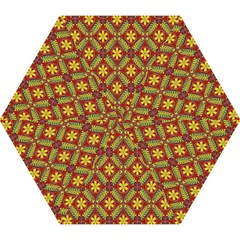 Abstract Yellow Red Frame Flower Floral Mini Folding Umbrellas by Alisyart