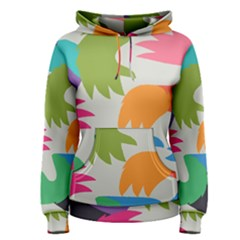 Hand Rainbow Blue Green Pink Purple Orange Monster Women s Pullover Hoodie
