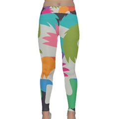 Hand Rainbow Blue Green Pink Purple Orange Monster Classic Yoga Leggings by Alisyart