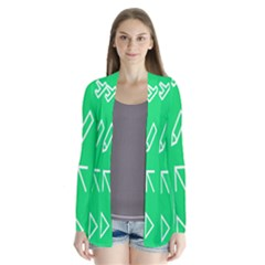 Icon Sign Green White Cardigans by Alisyart