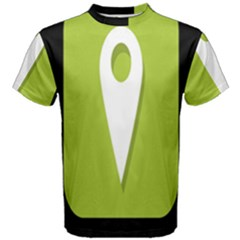 Location Icon Graphic Green White Black Men s Cotton Tee