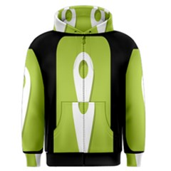 Location Icon Graphic Green White Black Men s Zipper Hoodie by Alisyart