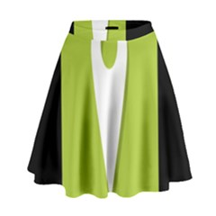 Location Icon Graphic Green White Black High Waist Skirt by Alisyart