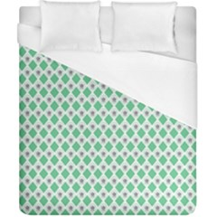 Crown King Triangle Plaid Wave Green White Duvet Cover (california King Size) by Alisyart