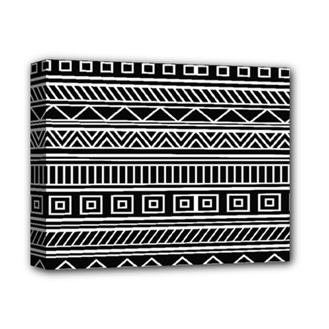 Myria Wrapping Paper Black Deluxe Canvas 14  X 11  by Alisyart