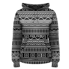 Myria Wrapping Paper Black Women s Pullover Hoodie