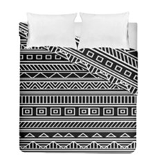 Myria Wrapping Paper Black Duvet Cover Double Side (full/ Double Size) by Alisyart