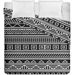 Myria Wrapping Paper Black Duvet Cover Double Side (king Size)
