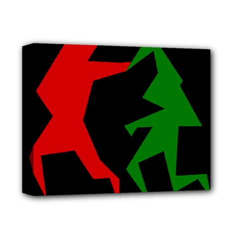 Ninja Graphics Red Green Black Deluxe Canvas 14  X 11