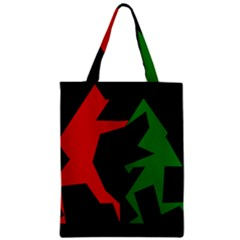 Ninja Graphics Red Green Black Zipper Classic Tote Bag