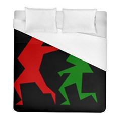 Ninja Graphics Red Green Black Duvet Cover (full/ Double Size) by Alisyart