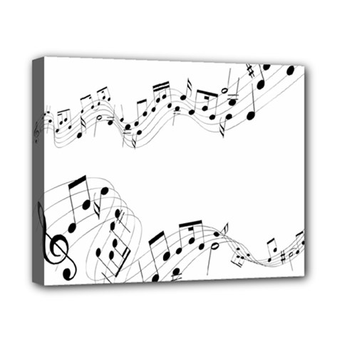 Music Note Song Black White Canvas 10  X 8  by Alisyart