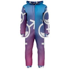 Perfume Graphic Man Women Purple Pink Sign Spray Hooded Jumpsuit (ladies)