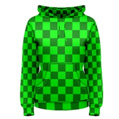 Plaid Flag Green Women s Pullover Hoodie