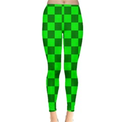 Plaid Flag Green Classic Winter Leggings