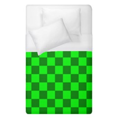Plaid Flag Green Duvet Cover (single Size)