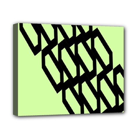 Polygon Abstract Shape Black Green Canvas 10  X 8  by Alisyart