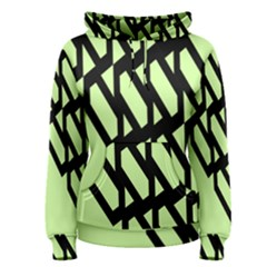 Polygon Abstract Shape Black Green Women s Pullover Hoodie
