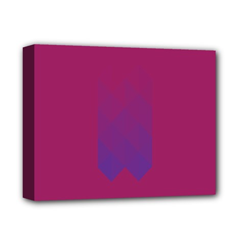 Purple Blue Deluxe Canvas 14  X 11  by Alisyart