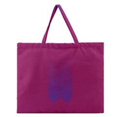 Purple Blue Zipper Large Tote Bag by Alisyart
