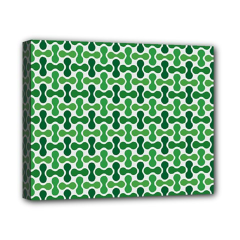 Green White Wave Canvas 10  X 8