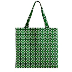Green White Wave Grocery Tote Bag by Alisyart