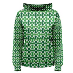 Green White Wave Women s Pullover Hoodie