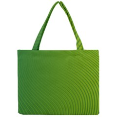 Green Wave Waves Line Mini Tote Bag by Alisyart
