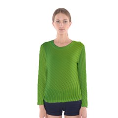 Green Wave Waves Line Women s Long Sleeve Tee by Alisyart