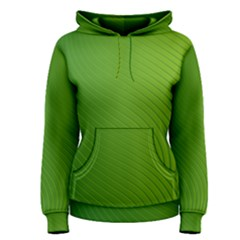 Green Wave Waves Line Women s Pullover Hoodie