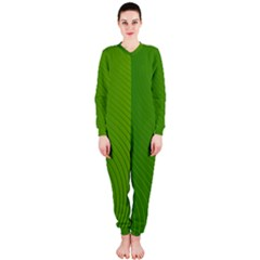 Green Wave Waves Line Onepiece Jumpsuit (ladies)  by Alisyart