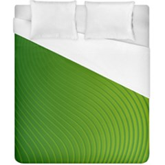 Green Wave Waves Line Duvet Cover (california King Size) by Alisyart