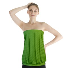 Green Wave Waves Line Strapless Top