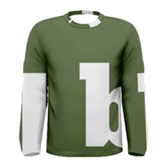 Square Alphabet Green White Sign Men s Long Sleeve Tee