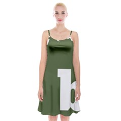 Square Alphabet Green White Sign Spaghetti Strap Velvet Dress by Alisyart