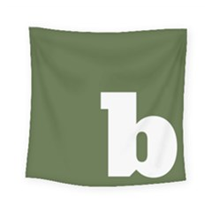 Square Alphabet Green White Sign Square Tapestry (small) by Alisyart