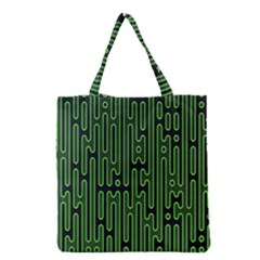 Pipes Green Light Circle Grocery Tote Bag by Alisyart