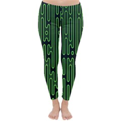 Pipes Green Light Circle Classic Winter Leggings