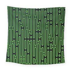 Pipes Green Light Circle Square Tapestry (large)