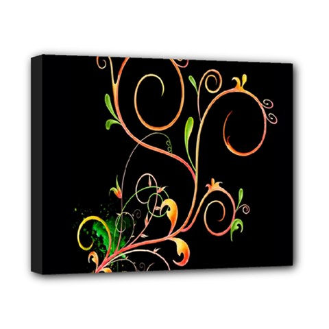 Flowers Neon Color Canvas 10  X 8  by Simbadda