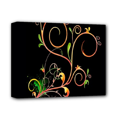 Flowers Neon Color Deluxe Canvas 14  X 11