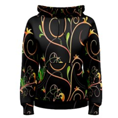 Flowers Neon Color Women s Pullover Hoodie