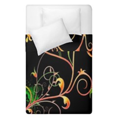 Flowers Neon Color Duvet Cover Double Side (single Size) by Simbadda