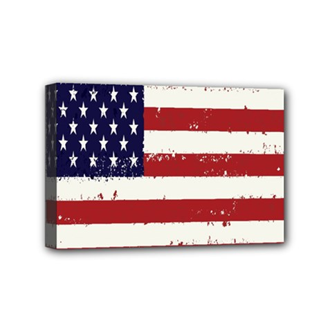 Flag United States United States Of America Stripes Red White Mini Canvas 6  X 4  by Simbadda