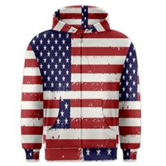 Flag United States United States Of America Stripes Red White Men s Zipper Hoodie