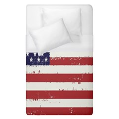 Flag United States United States Of America Stripes Red White Duvet Cover (single Size) by Simbadda